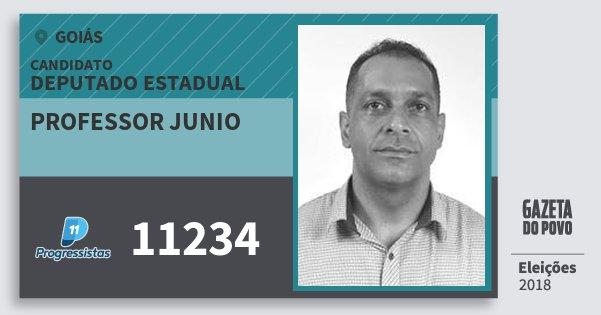 Santinho Professor Junio 11234 (PP) Deputado Estadual | Goiás | Eleições 2018