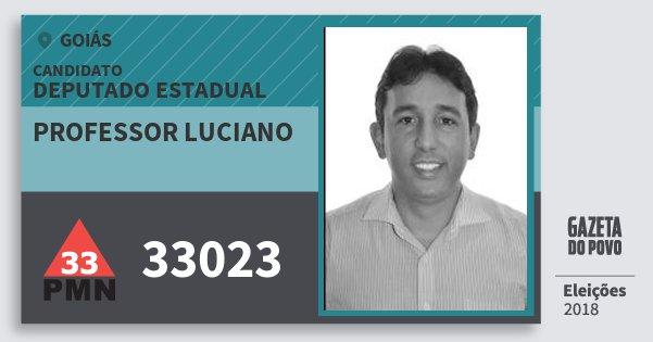 Santinho Professor Luciano 33023 (PMN) Deputado Estadual | Goiás | Eleições 2018
