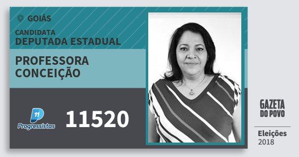 Santinho Professora Conceição 11520 (PP) Deputada Estadual | Goiás | Eleições 2018