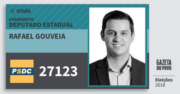 Santinho Rafael Gouveia 27123 (DC) Deputado Estadual | Goiás | Eleições 2018