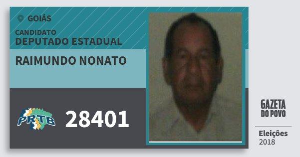 Santinho Raimundo Nonato 28401 (PRTB) Deputado Estadual | Goiás | Eleições 2018