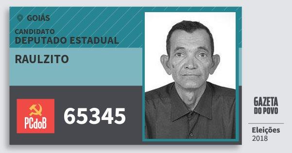 Santinho Raulzito 65345 (PC do B) Deputado Estadual | Goiás | Eleições 2018