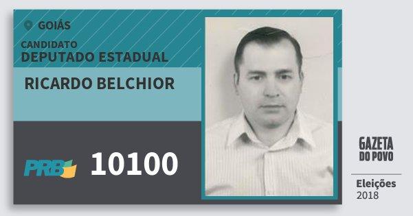 Santinho Ricardo Belchior 10100 (PRB) Deputado Estadual | Goiás | Eleições 2018