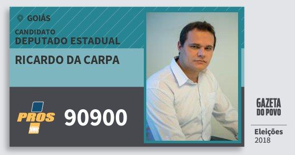 Santinho Ricardo da Carpa 90900 (PROS) Deputado Estadual | Goiás | Eleições 2018