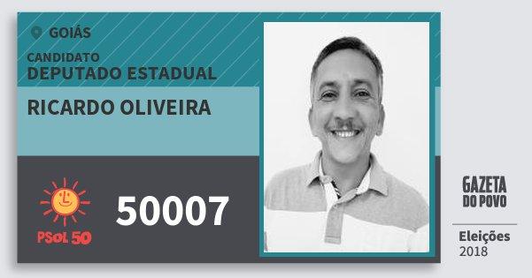 Santinho Ricardo Oliveira 50007 (PSOL) Deputado Estadual   Goiás   Eleições 2018