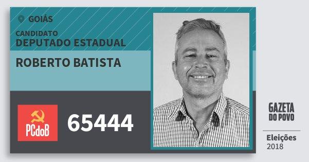 Santinho Roberto Batista 65444 (PC do B) Deputado Estadual | Goiás | Eleições 2018