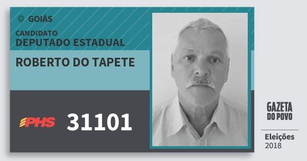 Santinho Roberto do Tapete 31101 (PHS) Deputado Estadual | Goiás | Eleições 2018
