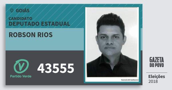Santinho Robson Rios 43555 (PV) Deputado Estadual | Goiás | Eleições 2018