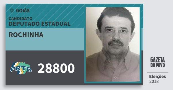 Santinho Rochinha 28800 (PRTB) Deputado Estadual | Goiás | Eleições 2018
