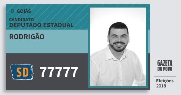 Santinho Rodrigão 77777 (SOLIDARIEDADE) Deputado Estadual | Goiás | Eleições 2018