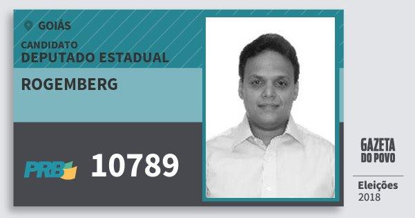 Santinho Rogemberg 10789 (PRB) Deputado Estadual | Goiás | Eleições 2018