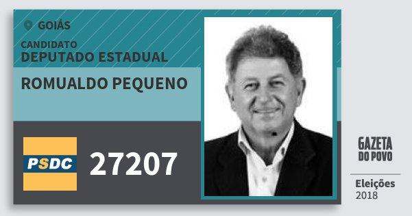 Santinho Romualdo Pequeno 27207 (DC) Deputado Estadual | Goiás | Eleições 2018