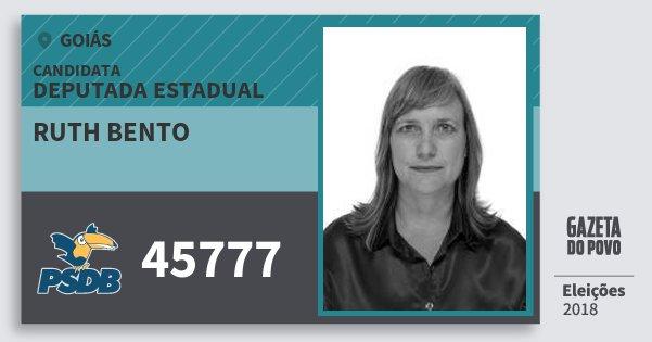 Santinho Ruth Bento 45777 (PSDB) Deputada Estadual | Goiás | Eleições 2018
