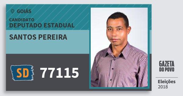 Santinho Santos Pereira 77115 (SOLIDARIEDADE) Deputado Estadual | Goiás | Eleições 2018