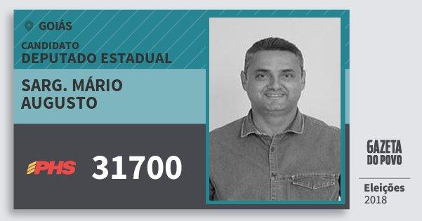 Santinho Sarg. Mário Augusto 31700 (PHS) Deputado Estadual | Goiás | Eleições 2018