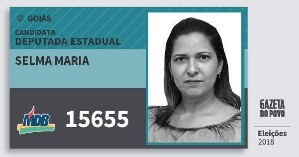 Santinho Selma Maria 15655 (MDB) Deputada Estadual | Goiás | Eleições 2018