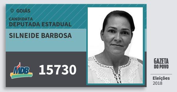Santinho Silneide Barbosa 15730 (MDB) Deputada Estadual | Goiás | Eleições 2018