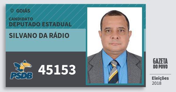 Santinho Silvano da Rádio 45153 (PSDB) Deputado Estadual | Goiás | Eleições 2018