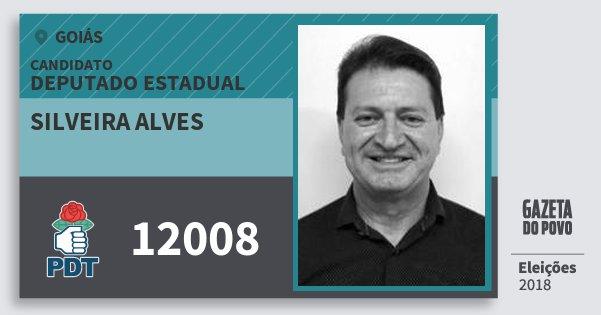 Santinho Silveira Alves 12008 (PDT) Deputado Estadual | Goiás | Eleições 2018