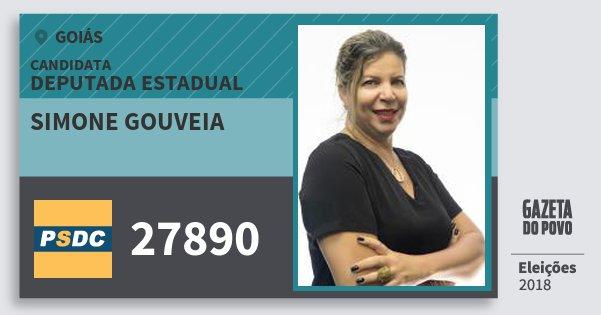 Santinho Simone Gouveia 27890 (DC) Deputada Estadual | Goiás | Eleições 2018