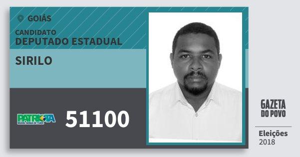 Santinho Sirilo 51100 (PATRI) Deputado Estadual | Goiás | Eleições 2018