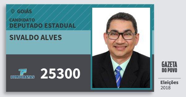 Santinho Sivaldo Alves 25300 (DEM) Deputado Estadual | Goiás | Eleições 2018