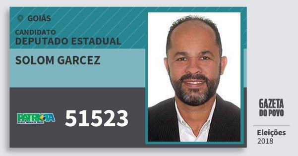 Santinho Solom Garcez 51523 (PATRI) Deputado Estadual | Goiás | Eleições 2018