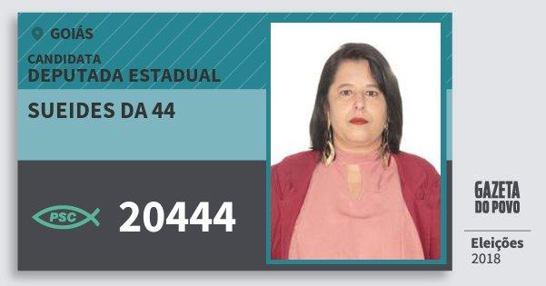 Santinho Sueides da 44 20444 (PSC) Deputada Estadual | Goiás | Eleições 2018