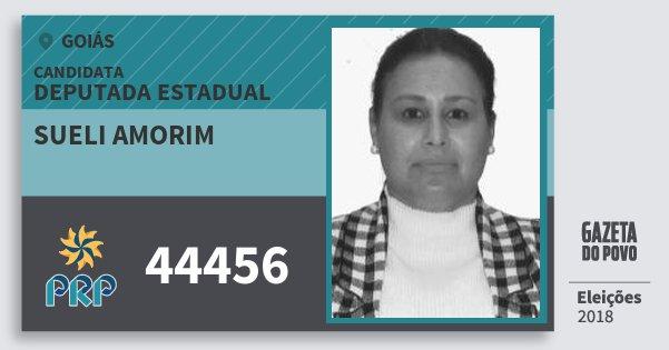 Santinho Sueli Amorim 44456 (PRP) Deputada Estadual | Goiás | Eleições 2018