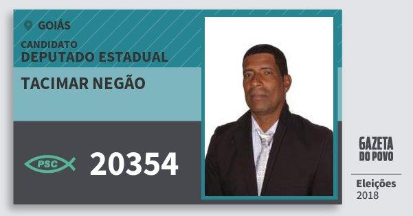 Santinho Tacimar Negão 20354 (PSC) Deputado Estadual | Goiás | Eleições 2018