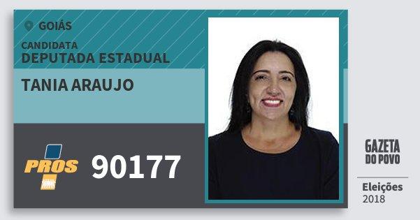 Santinho Tania Araujo 90177 (PROS) Deputada Estadual | Goiás | Eleições 2018