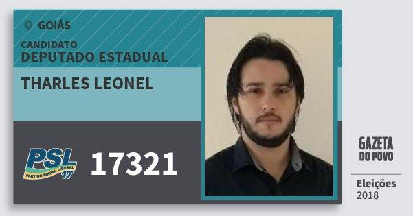 Santinho Tharles Leonel 17321 (PSL) Deputado Estadual | Goiás | Eleições 2018