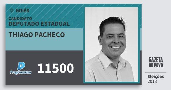 Santinho Thiago Pacheco 11500 (PP) Deputado Estadual | Goiás | Eleições 2018