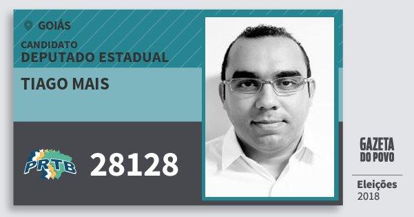 Santinho Tiago Mais 28128 (PRTB) Deputado Estadual | Goiás | Eleições 2018