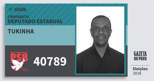 Santinho Tukinha 40789 (PSB) Deputado Estadual | Goiás | Eleições 2018