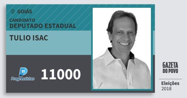 Santinho Tulio Isac 11000 (PP) Deputado Estadual | Goiás | Eleições 2018