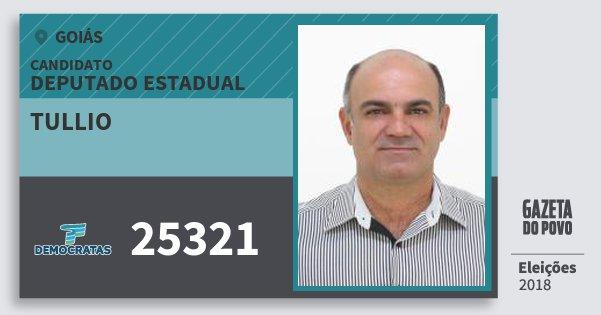 Santinho Tullio 25321 (DEM) Deputado Estadual | Goiás | Eleições 2018
