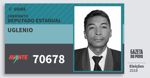 Santinho Uglenio 70678 (AVANTE) Deputado Estadual | Goiás | Eleições 2018