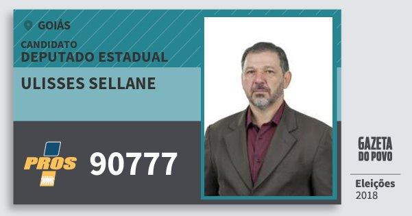 Santinho Ulisses Sellane 90777 (PROS) Deputado Estadual | Goiás | Eleições 2018