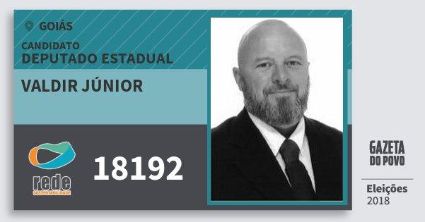 Santinho Valdir Júnior 18192 (REDE) Deputado Estadual | Goiás | Eleições 2018