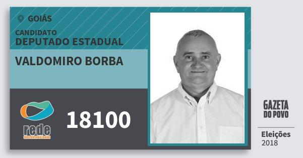 Santinho Valdomiro Borba 18100 (REDE) Deputado Estadual | Goiás | Eleições 2018