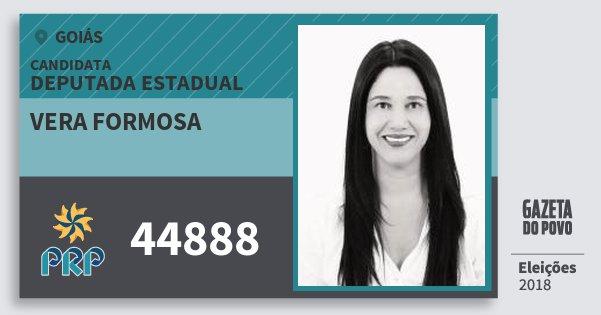 Santinho Vera Formosa 44888 (PRP) Deputada Estadual | Goiás | Eleições 2018