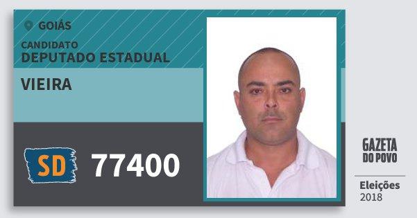 Santinho Vieira 77400 (SOLIDARIEDADE) Deputado Estadual | Goiás | Eleições 2018