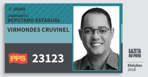 Santinho Virmondes Cruvinel 23123 (PPS) Deputado Estadual | Goiás | Eleições 2018
