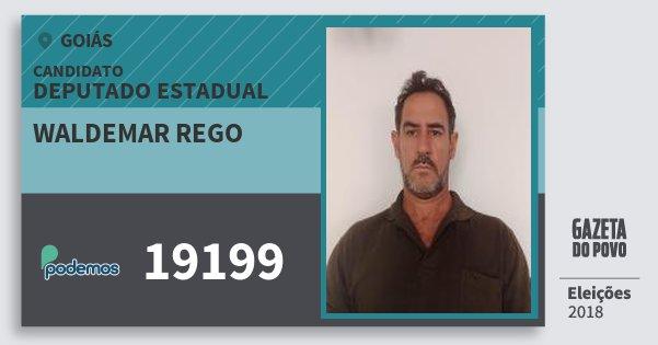 Santinho Waldemar Rego 19199 (PODE) Deputado Estadual | Goiás | Eleições 2018