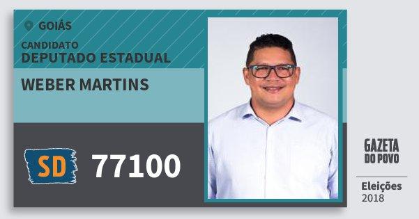 Santinho Weber Martins 77100 (SOLIDARIEDADE) Deputado Estadual | Goiás | Eleições 2018