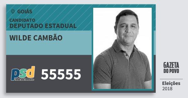Santinho Wilde Cambão 55555 (PSD) Deputado Estadual | Goiás | Eleições 2018