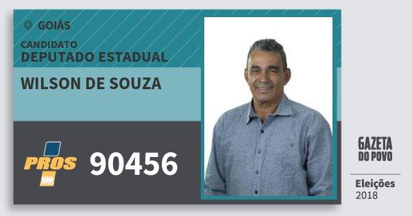 Santinho Wilson de Souza 90456 (PROS) Deputado Estadual   Goiás   Eleições 2018