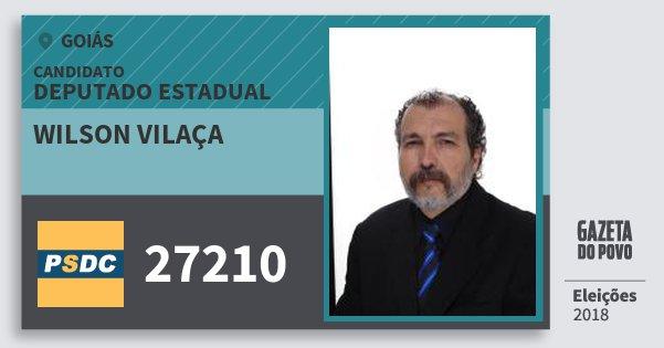 Santinho Wilson Vilaça 27210 (DC) Deputado Estadual | Goiás | Eleições 2018