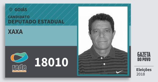 Santinho Xaxa 18010 (REDE) Deputado Estadual | Goiás | Eleições 2018